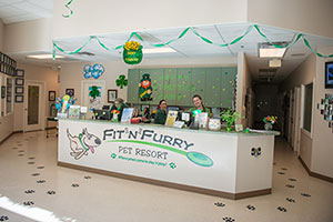 Inside view of the Fit N Furry facility