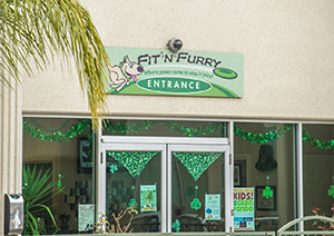 Front view of the Fit N Furry facility